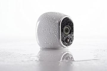 Arlo HD WLAN Überwachungskamera, 1er Set, kabellos, Innen / Aussen, Bewegungsmelder, Nachtsicht, Smart Home, CCTV, wetterfest, VMS3130, Weiß - 2