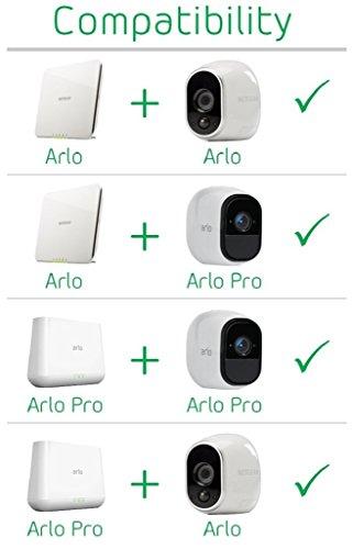 Arlo HD WLAN Überwachungskamera, 1er Set, kabellos, Innen / Aussen, Bewegungsmelder, Nachtsicht, Smart Home, CCTV, wetterfest, VMS3130, Weiß - 11