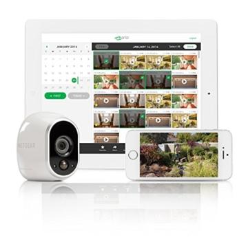 Arlo HD WLAN Überwachungskamera, 1er Set, kabellos, Innen / Aussen, Bewegungsmelder, Nachtsicht, Smart Home, CCTV, wetterfest, VMS3130, Weiß - 6