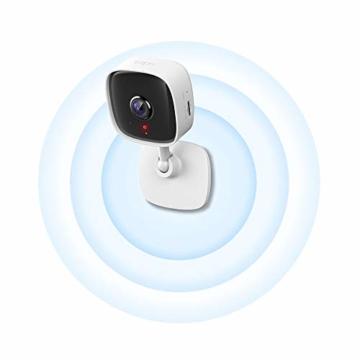 TP-Link Tapo C100 WLAN IP Kamera Überwachungskamera innen (1080p-Auflösung, 2 Wege Audio, 9m Nachtsicht , bis zu 128 GB lokaler Speicher auf SIM Karte,Tapo App, kompatibel mit Alexa, Google Assistant) - 3