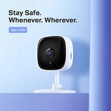 TP-Link Tapo C100 WLAN IP Kamera Überwachungskamera innen (1080p-Auflösung, 2 Wege Audio, 9m Nachtsicht , bis zu 128 GB lokaler Speicher auf SIM Karte,Tapo App, kompatibel mit Alexa, Google Assistant) - 4