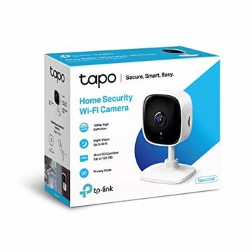 TP-Link Tapo C100 WLAN IP Kamera Überwachungskamera innen (1080p-Auflösung, 2 Wege Audio, 9m Nachtsicht , bis zu 128 GB lokaler Speicher auf SIM Karte,Tapo App, kompatibel mit Alexa, Google Assistant) - 6