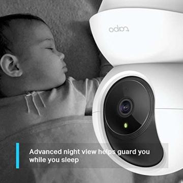 TP-Link Tapo C200 WLAN IP Kamera Überwachungskamera (Linsenschwenkung- und Neigung, 1080p-Auflösung, 2-Wege-Audio, Nachtsicht zu 9m, bis zu 128 GB lokaler Speicher auf SIM Karte) Weiß - 4