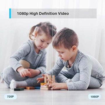 TP-Link Tapo C200 WLAN IP Kamera Überwachungskamera (Linsenschwenkung- und Neigung, 1080p-Auflösung, 2-Wege-Audio, Nachtsicht zu 9m, bis zu 128 GB lokaler Speicher auf SIM Karte) Weiß - 5