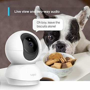 TP-Link Tapo C200 WLAN IP Kamera Überwachungskamera (Linsenschwenkung- und Neigung, 1080p-Auflösung, 2-Wege-Audio, Nachtsicht zu 9m, bis zu 128 GB lokaler Speicher auf SIM Karte) Weiß - 7